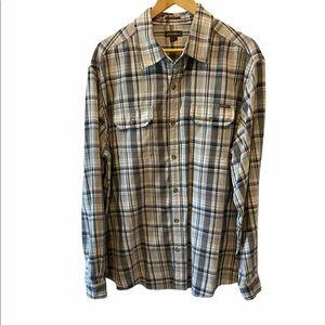 MENS EDDIE BAUER Classic Fit Plaid Button Up Shirt